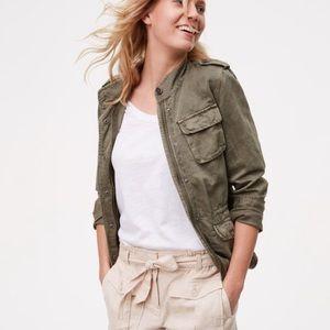 LOFT twill utility jacket